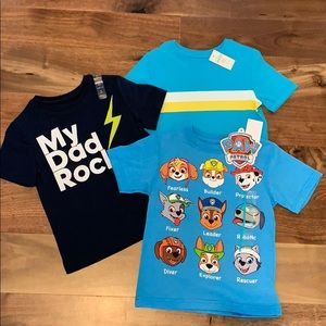Boys 4T new with tags tee lot